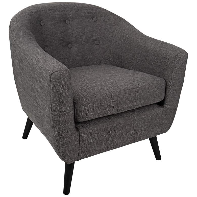 Rockwell Charcoal Gray Upholstered Accent Chair 7w173