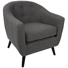 Rockwell Charcoal Gray Upholstered Accent Chair