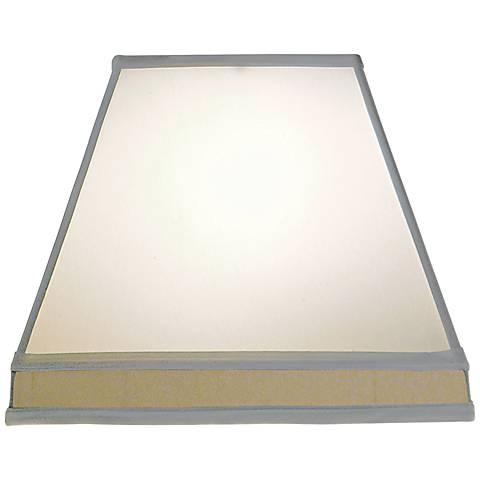 Stiffel Off-White Silk Shantung Shade 8/8x15/15x12 (Spider)