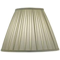 Stiffel lamp shades lamps plus stiffel ivory shadow box pleat empire shade 8x17x13 spider mozeypictures Image collections