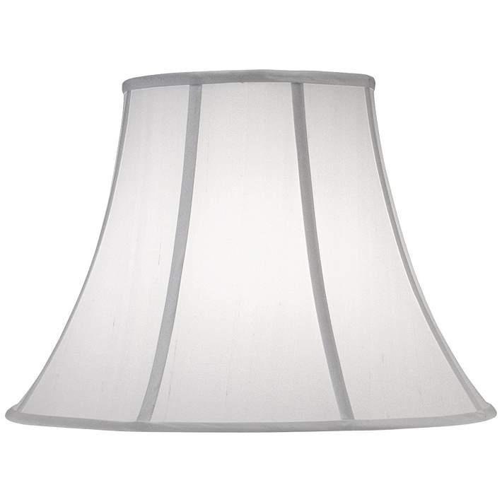 Stiffel Off White Silk Shantung Bell Shade 8x17x13 Spider 7w262 Lamps Plus