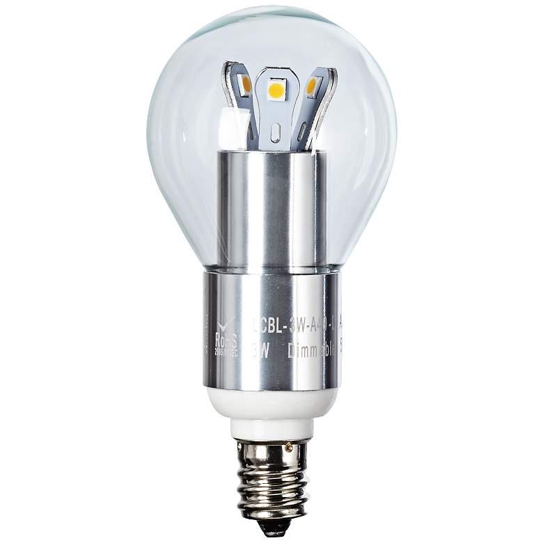 25W Equivalent Clear 3W LED Candelabra Base Fan