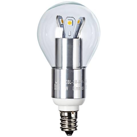 25W Equivalent Clear 3W LED Candelabra Base Fan Bulb