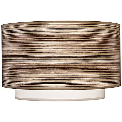 Stiffel Zebrawood and Off-White Double Shade 16x16x8 (Spider)