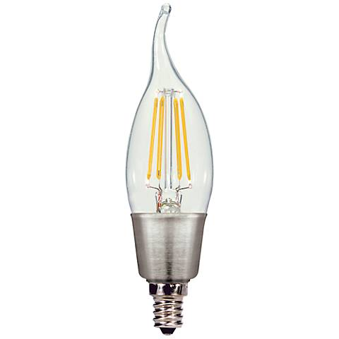 Satco 4.5 Watt Candelabra Base Flame Tip LED Light Bulb