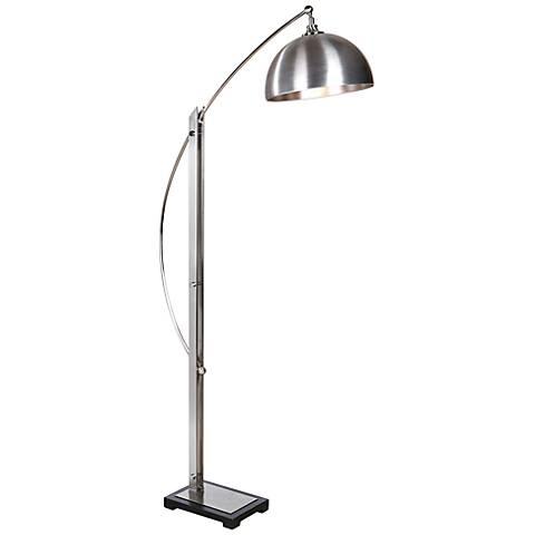 Uttermost Malcolm Brushed Nickel Metal Floor Lamp