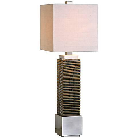 Uttermost Jernigan Dark Bronze Glass Table Lamp