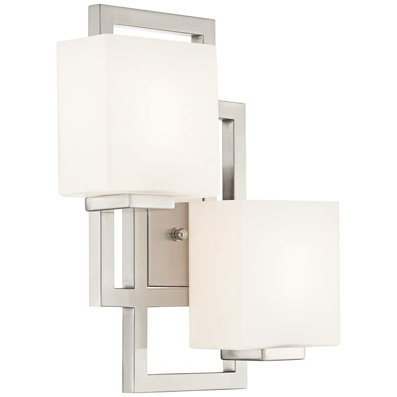 "Lighting on the Square 15 1/2""H Brushed Nickel Wall Sconce"