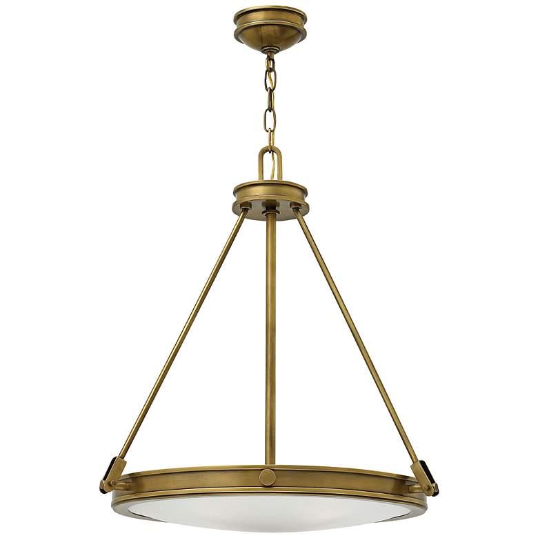 "Hinkley Collier 21 1/2"" Wide Heritage Brass 4-Light Pendant"