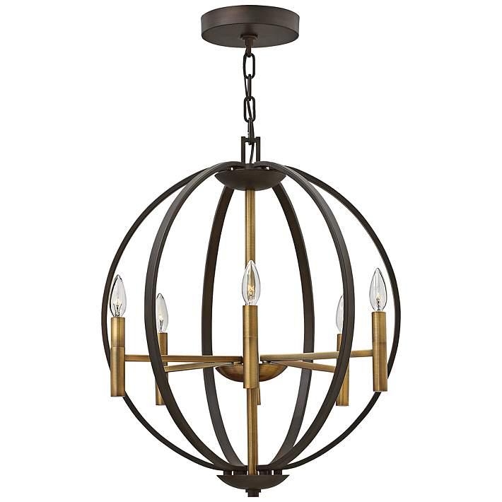 Wide Spanish Bronze 6 Light Pendant