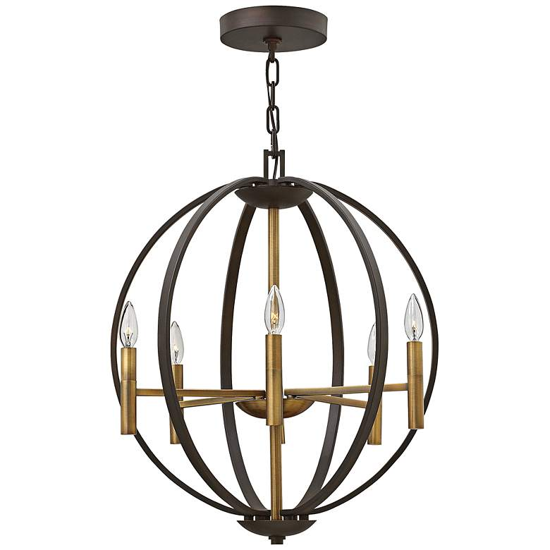 "Hinkley Euclid 22 1/4"" Wide Spanish Bronze 6-Light Pendant"