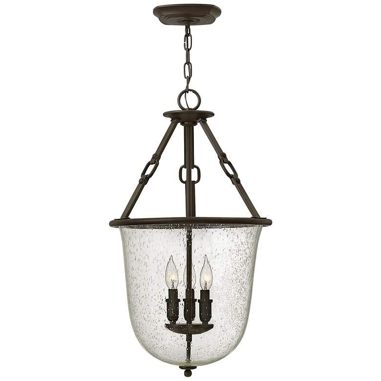 """Hinkley Dakota 15 3/4""""W Oil-Rubbed Bronze 3-Light Lantern"""
