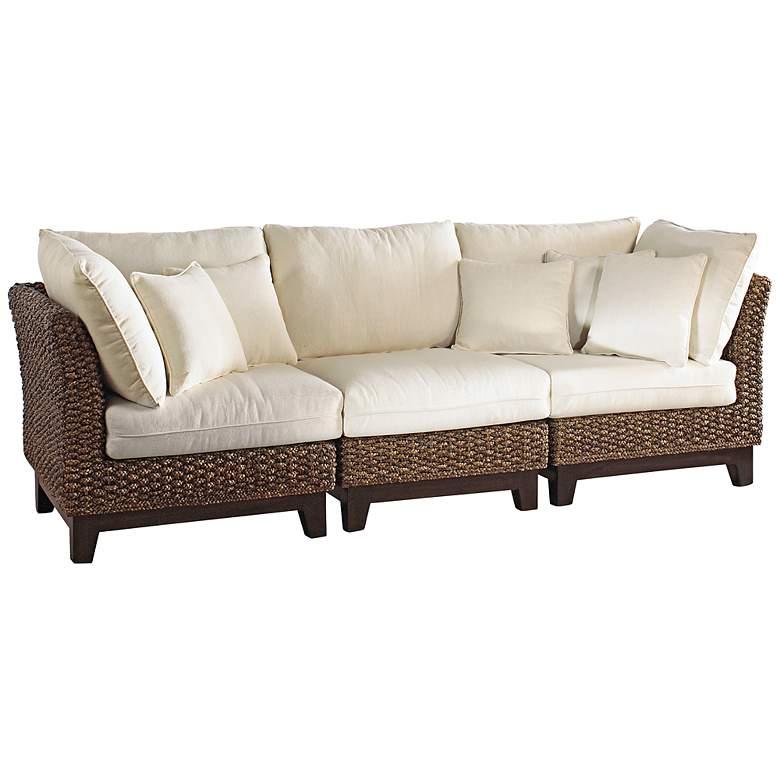 Panama Jack Sanibel Rattan 3-Piece Sofa Set with Cushions