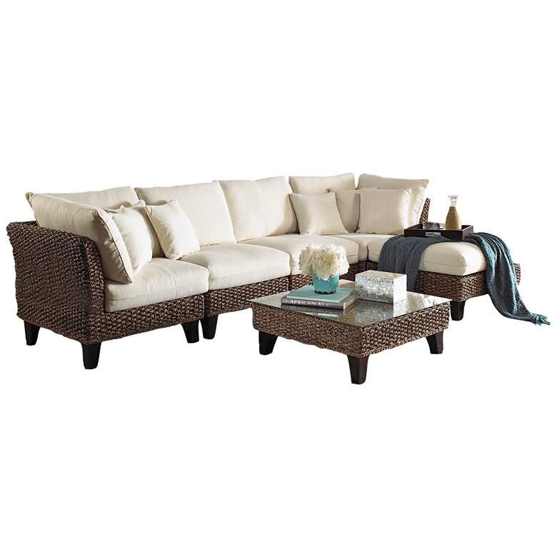 Panama Jack Sanibel Rattan 6-Piece Sectional Seating Set