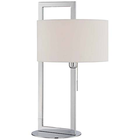 Lite Source Lucetta Contemporary Chrome Table Lamp