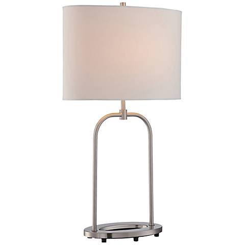 Lite Source Cailean Polished Steel Oval Table Lamp