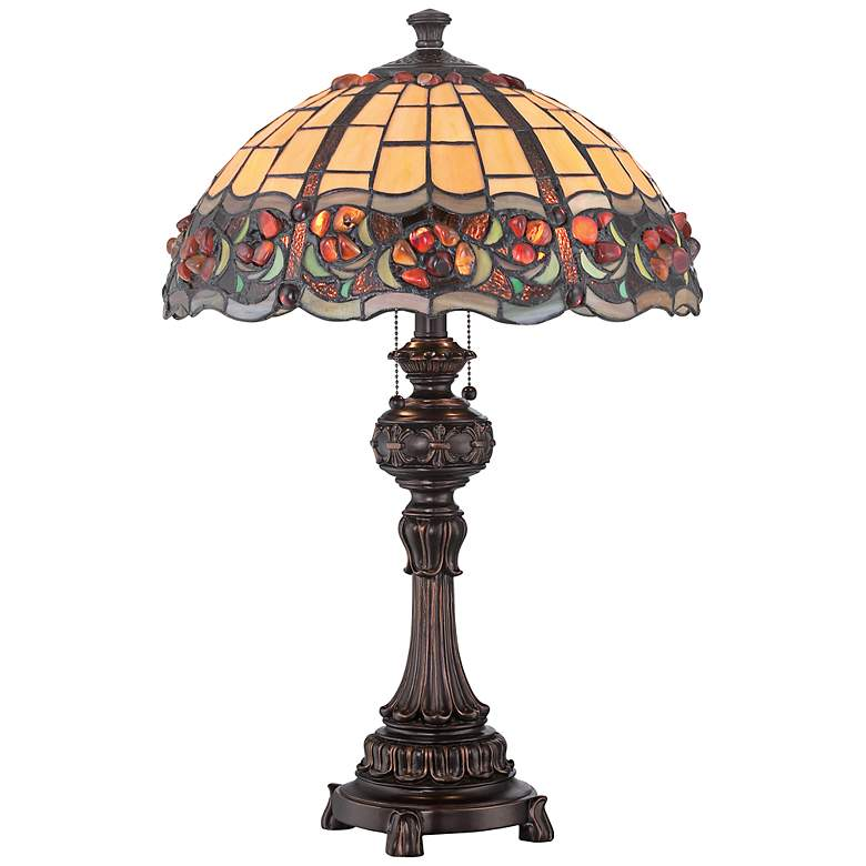 Lump Plus: Lite Source Deana Dark Bronze Tiffany Style Table Lamp
