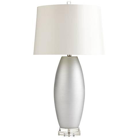 Moonlight Silver Ceramic Table Lamp
