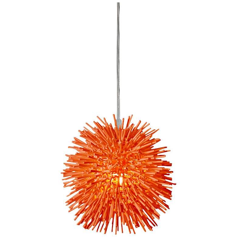 "Varaluz Urchin 6 1/4""W Electric Pumpkin Mini Pendant"