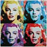 "Marilyn Monroe Pop 22"" Square Metal Wall Art Clock"
