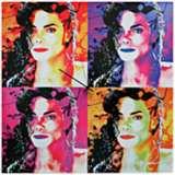 "Michael Jackson Pop 22"" Square Metal Wall Art Clock"