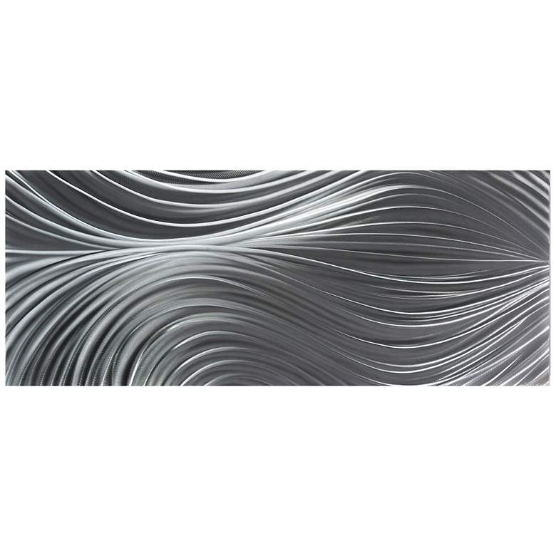 """Passing Currents Composition 48"""" Wide Metal Wall Art"""