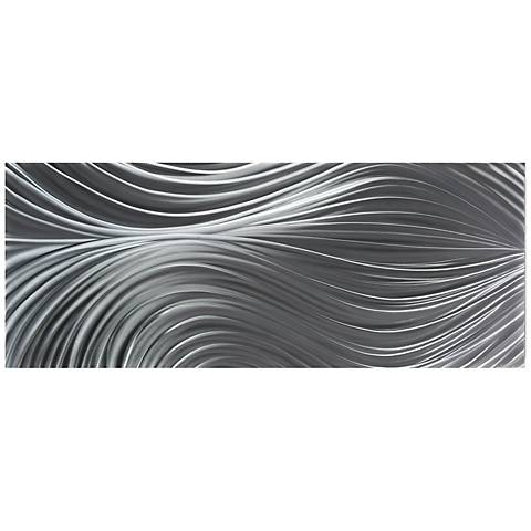 "Passing Currents Composition 48"" Wide Metal Wall Art"