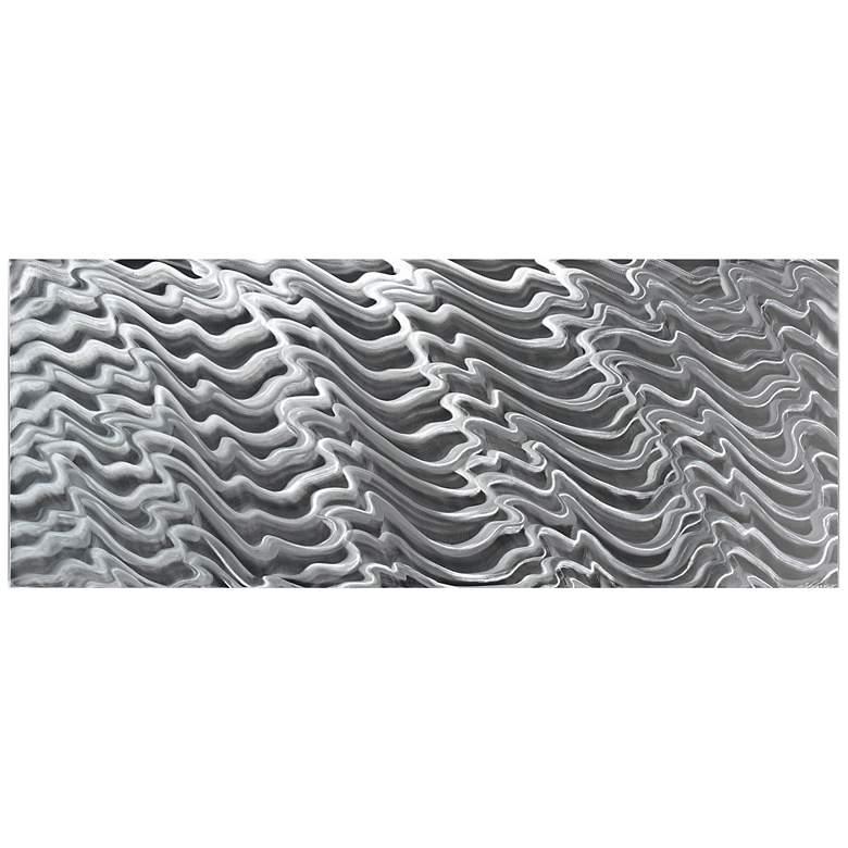 "Polar Encapsulation Composition 48"" Wide Metal Wall Art"