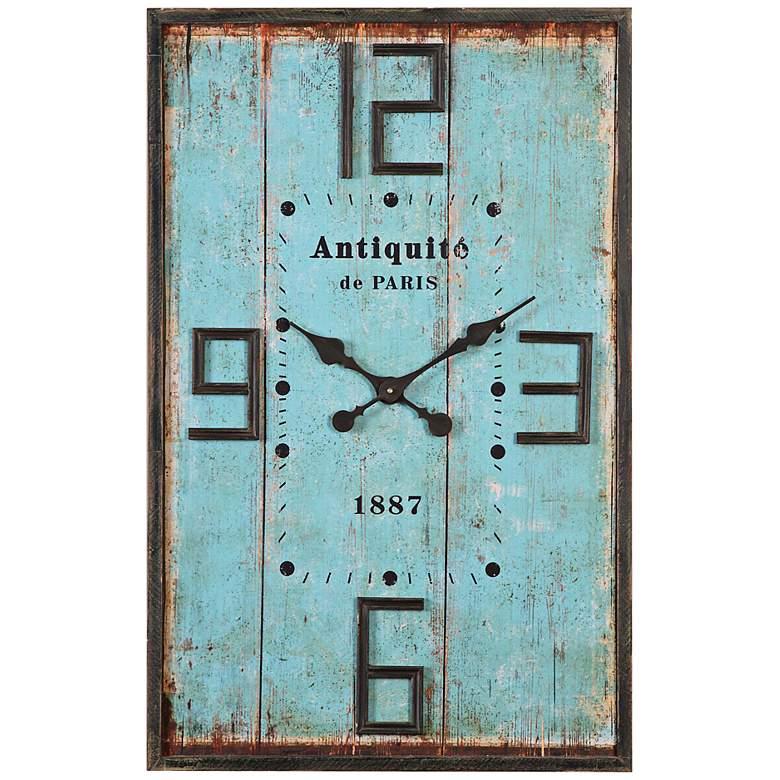 """Antiquite de Paris Aged Blue 36"""" High Wood"""