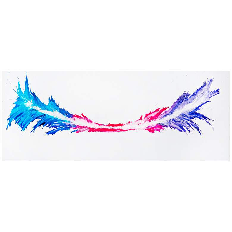 """Energy 48"""" Wide Colorful Abstract Metal Wall Art"""