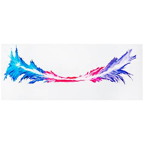 "Energy 48"" Wide Colorful Abstract Metal Wall Art"