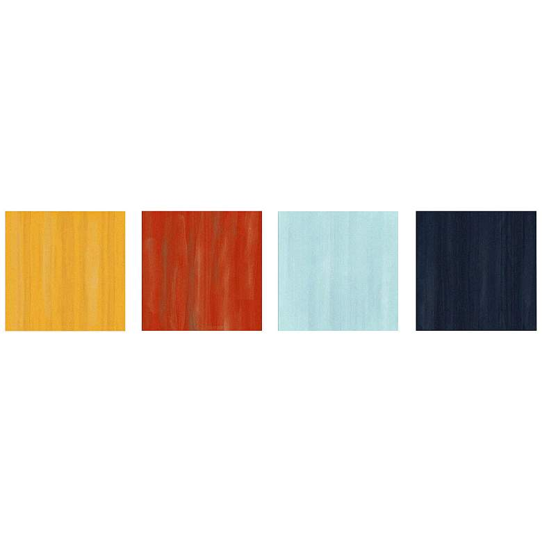 """Hot and Cold Colorful 4-Piece 12"""" Square Metal Wall Art"""