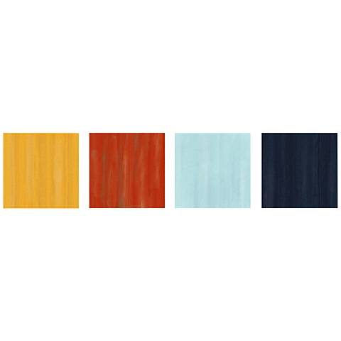 "Hot and Cold Colorful 4-Piece 12"" Square Metal Wall Art"