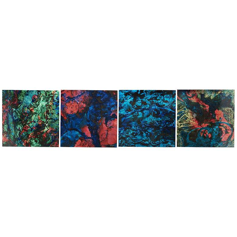 """Bright Lights Neon Paint 4-Piece 12"""" Square Wall"""