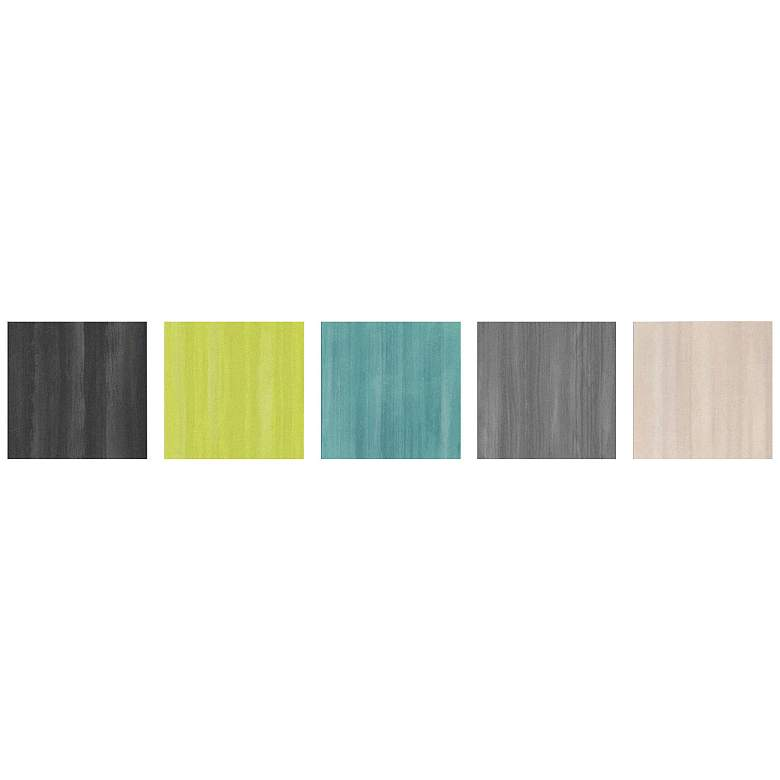 "Natural Balance Colorful 5-Piece 12"" Square Wall Art"