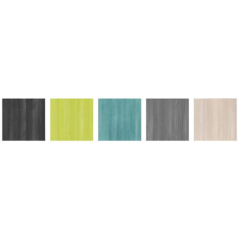 "Natural Balance Colorful 5-Piece 12"" Square Wall Art"