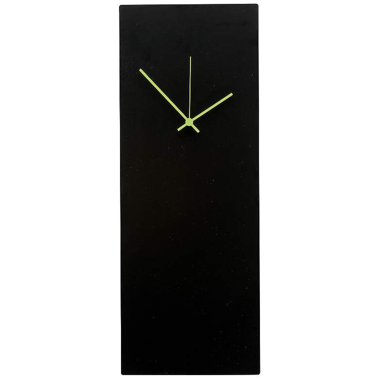 "Blackout Green Large 22"" High Minimalist Modern Wall Clock"