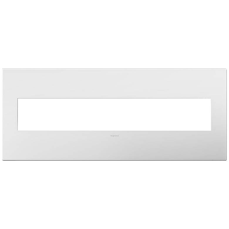 adorne Gloss White with Black Back 6-Gang Wall
