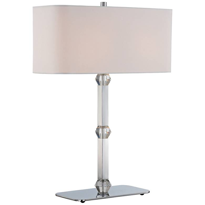 Lite Source Cairo Crystal Accent Chrome Table Lamp