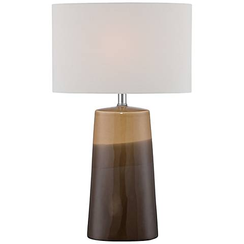 Lite Source Baker Gradient Coffee Ceramic Table Lamp
