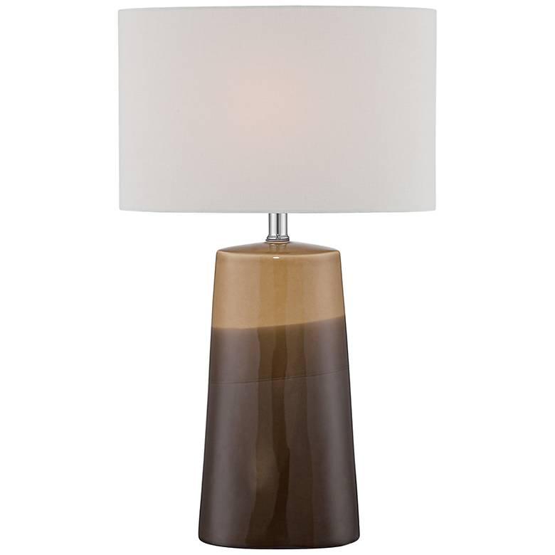 Lite Source Baker Gradient Coffee Ceramic Table Lamp