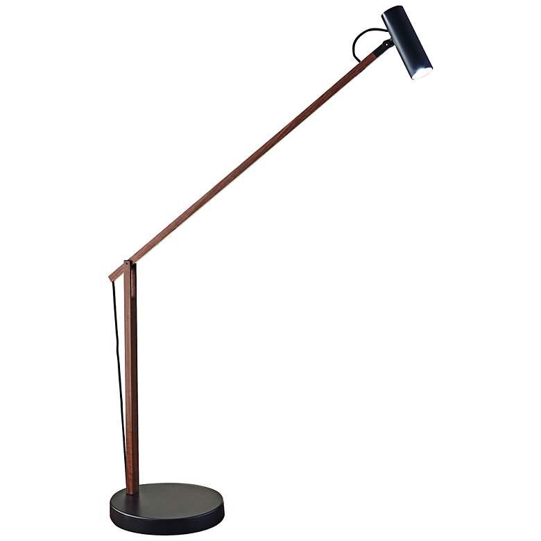 ADS360 Collection Crane Walnut Wood and Black LED Desk Lamp