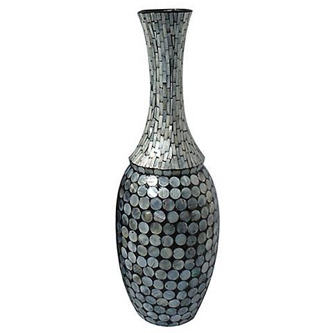 """Crestview Eden Medium Mother of Pearl 23"""" High Ceramic Vase"""