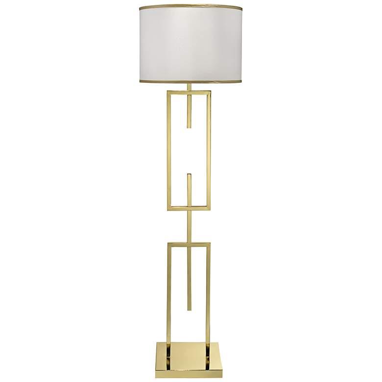 Jamie Young Arma Polished Brass Metal Floor Lamp