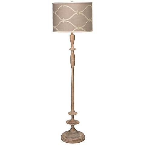 Jamie Young Petite Paro Regency Bleached Wood Floor Lamp