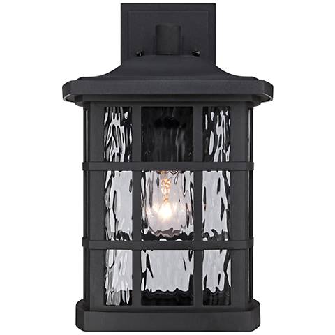 "Quoizel Stonington 15 1/2""H Matte Black Outdoor Wall Light"