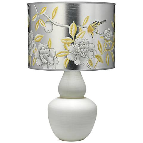 Jamie Young Gourd Hand-Painted Platinum Glass Table Lamp
