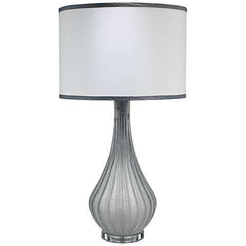 Jamie Young Scavo Frosted Gray Glass Table Lamp