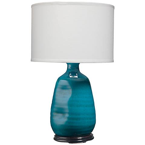 Jamie Young Dimple Cobalt Blue Vase Table Lamp