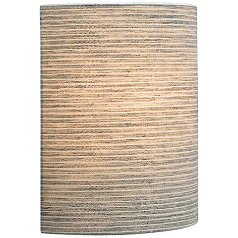 "LBL Fiona LED 11"" High Pewter Fabric Wall Sconce"